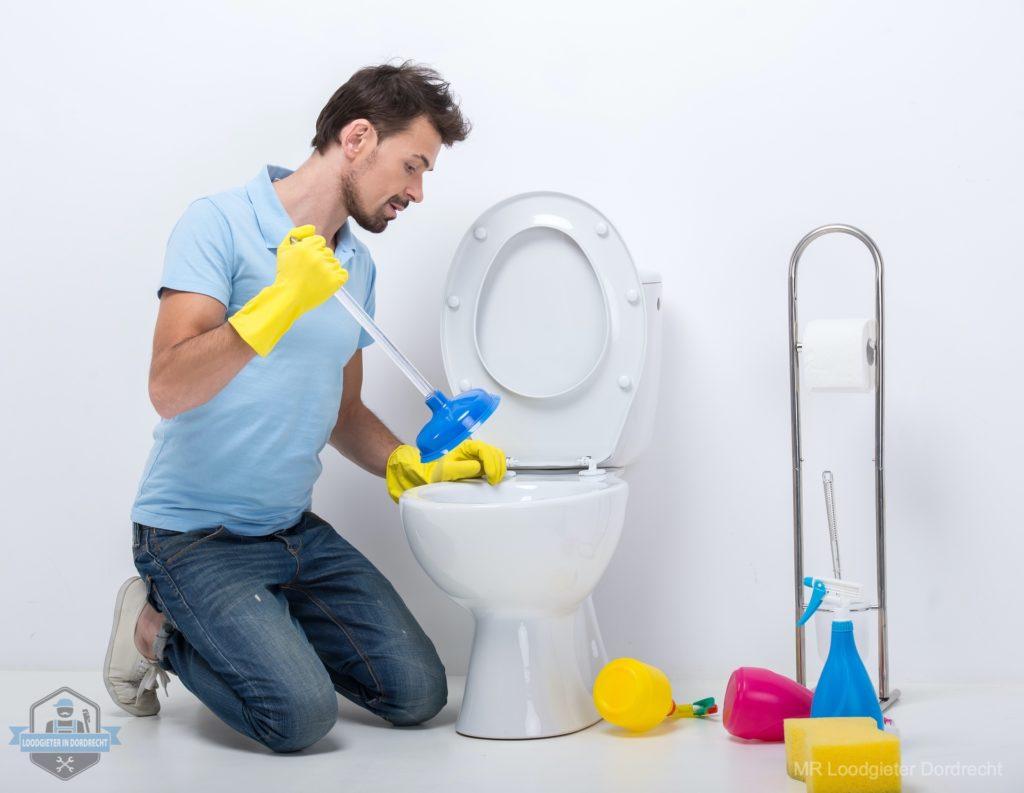 WC verstopt Dordrecht